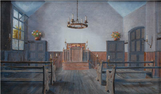 Interior of old chapel, Ickenham High Road