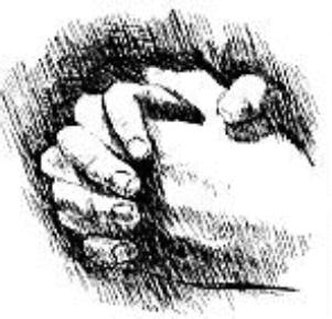 Pray First hands
