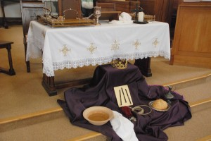 Easter symbols at the Altar