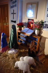 Nativity in the foyer