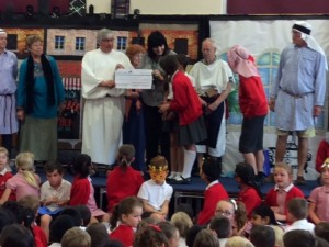 Presenting cheque for the Sensory Garden